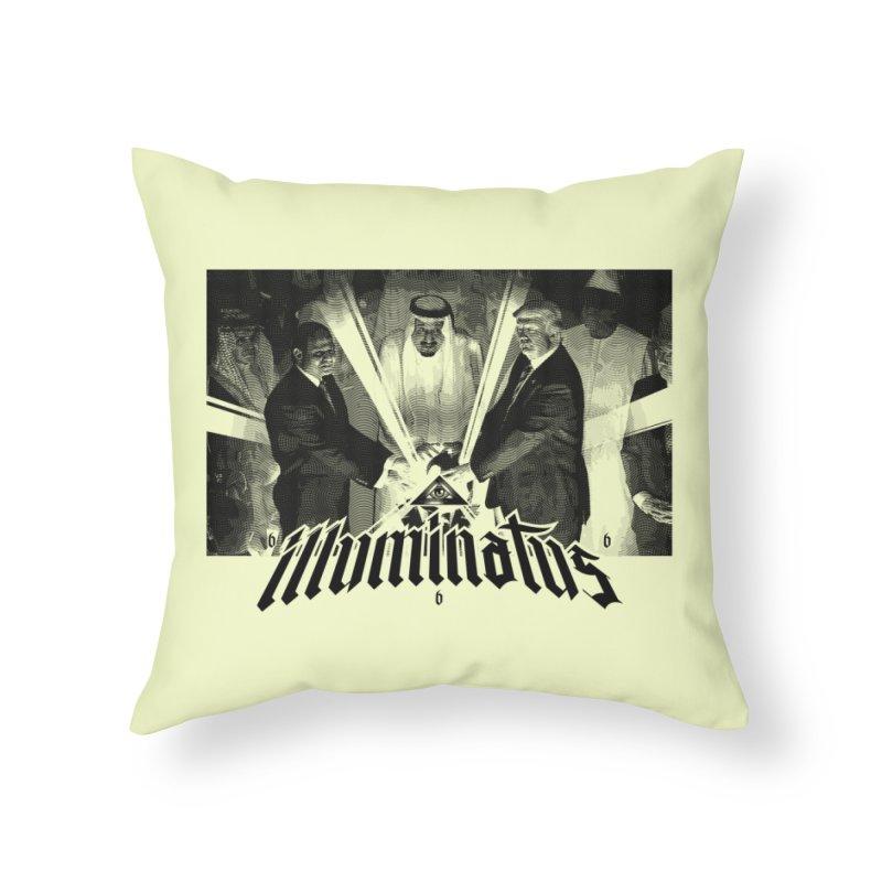 Illuminati Globalist Elite Home Throw Pillow by FWMJ's Shop
