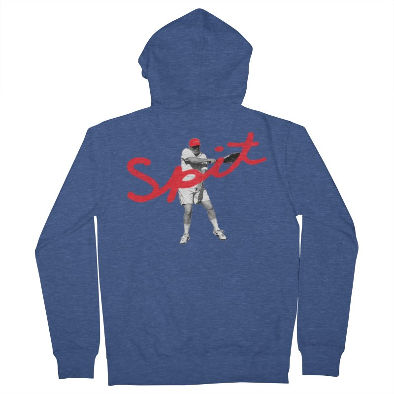 Racket Spit Men's French Terry Zip-Up Hoody by FWMJ's Shop