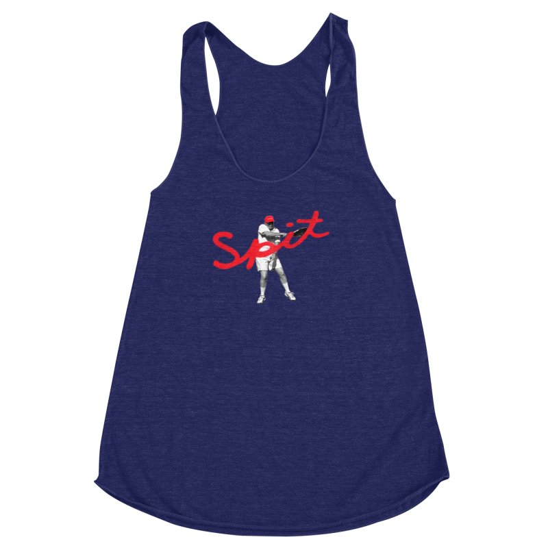 Racket Spit Women's Racerback Triblend Tank by FWMJ's Shop