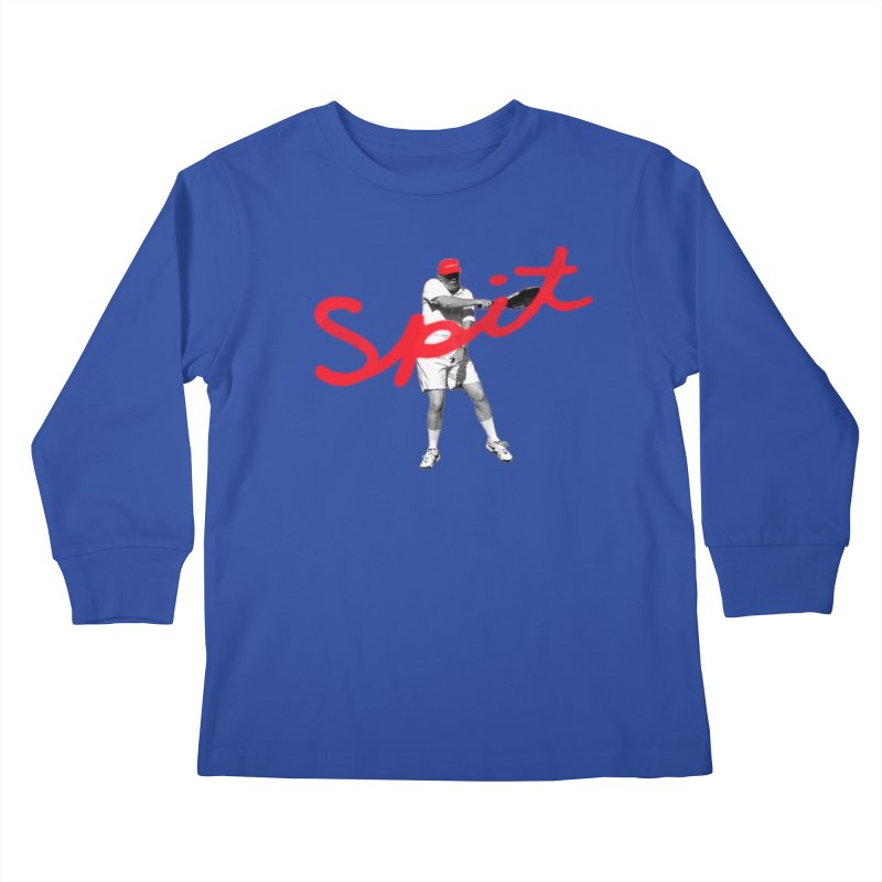 Racket Spit Kids Longsleeve T-Shirt by FWMJ's Shop