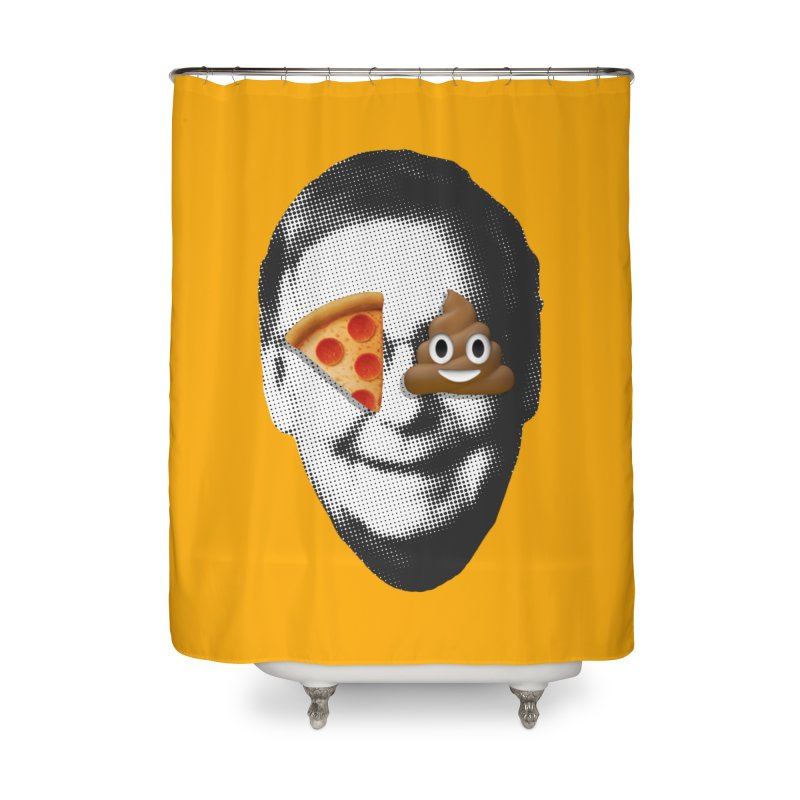 Issa Pizza Home Shower Curtain by FWMJ's Shop