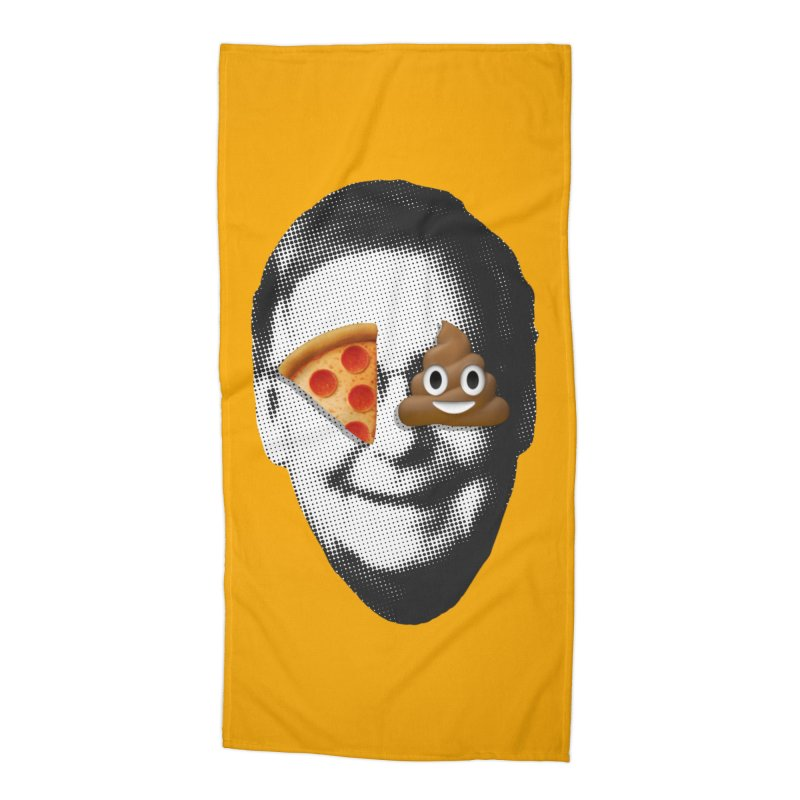Issa Pizza Accessories Beach Towel by FWMJ's Shop