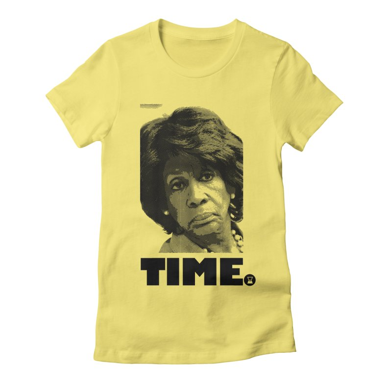 TIME. in Women's Fitted T-Shirt Light Yellow by FWMJ's Shop