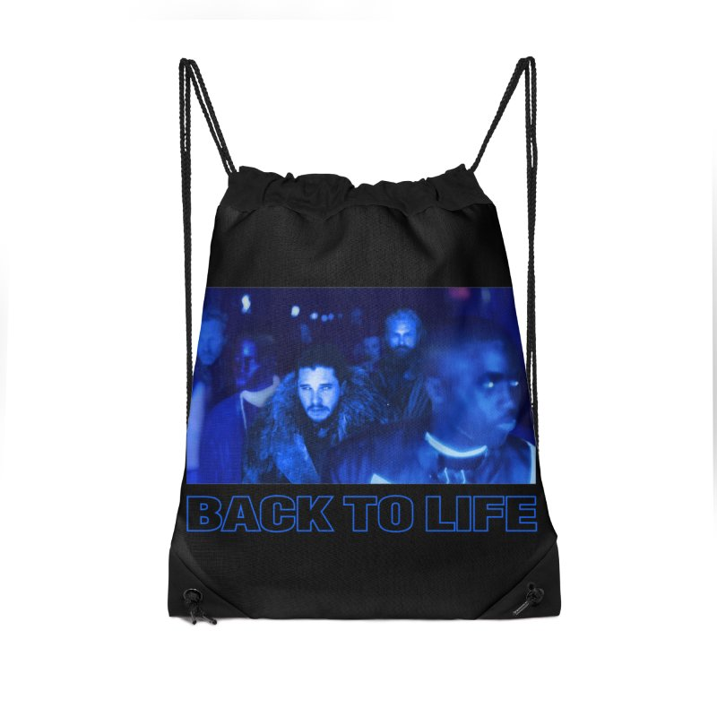Back To Life Accessories Drawstring Bag Bag by FWMJ's Shop