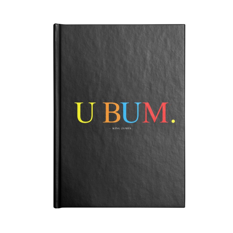 U BUM. (For Questlove) Accessories Blank Journal Notebook by FWMJ's Shop