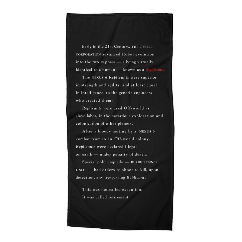 The Prologue Accessories Beach Towel by FWMJ's Shop