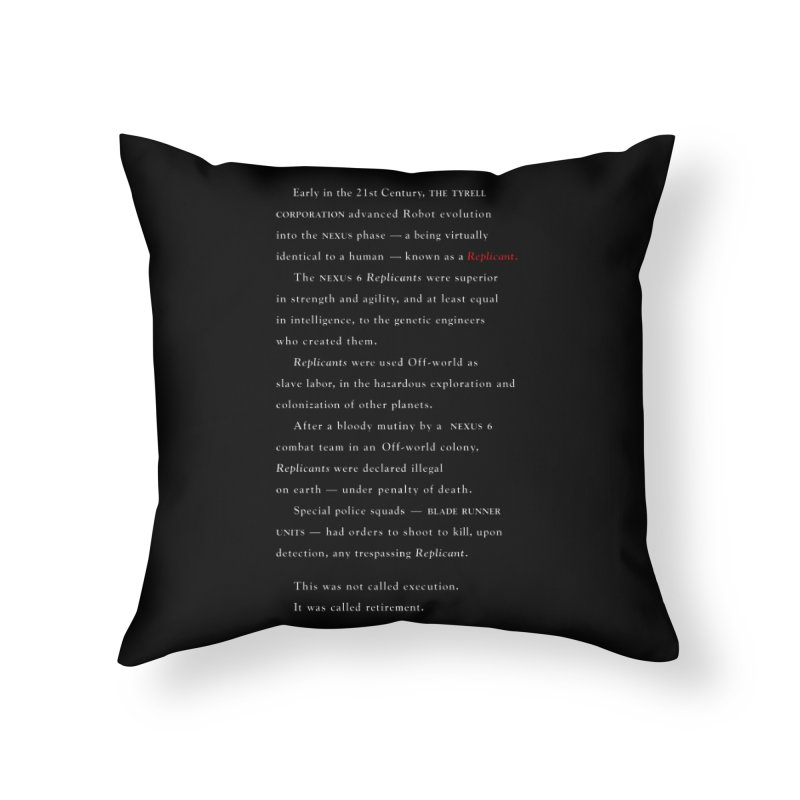 The Prologue Home Throw Pillow by FWMJ's Shop