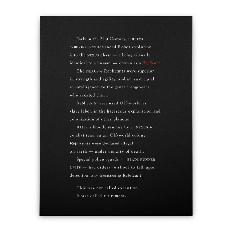 The Prologue Home Stretched Canvas by FWMJ's Shop