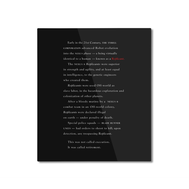The Prologue Home Mounted Aluminum Print by FWMJ's Shop