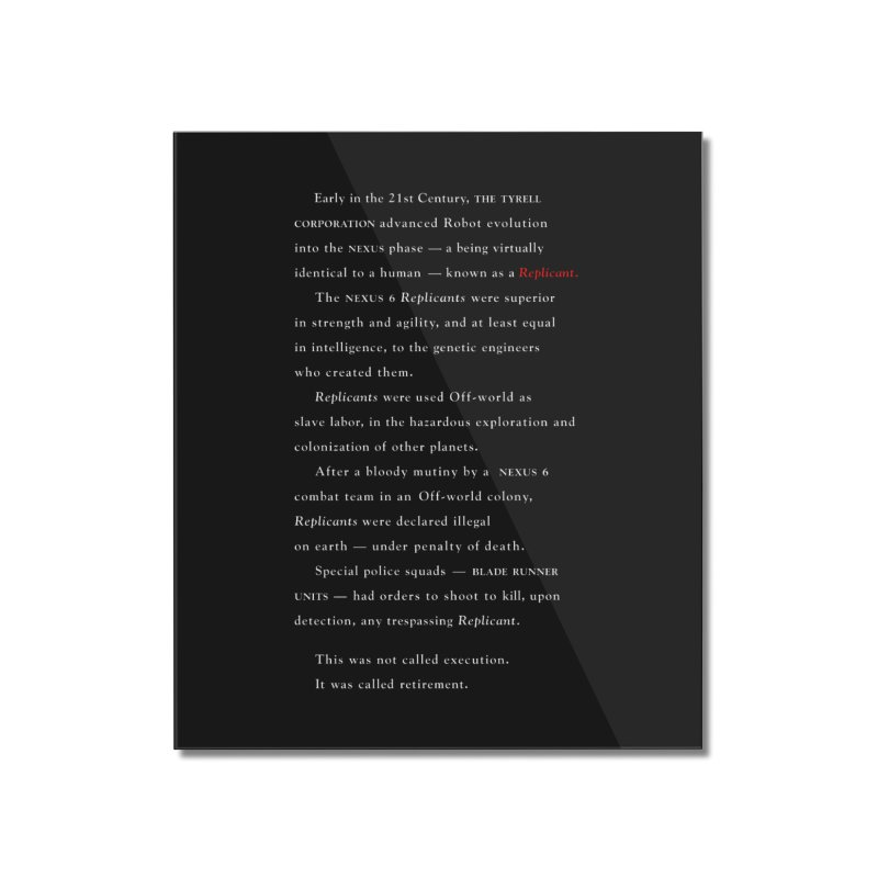 The Prologue Home Mounted Acrylic Print by FWMJ's Shop