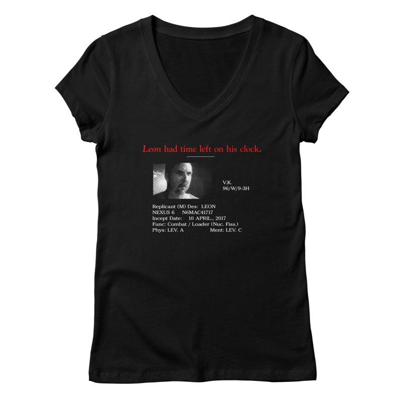 Time Left Women's V-Neck by FWMJ's Shop