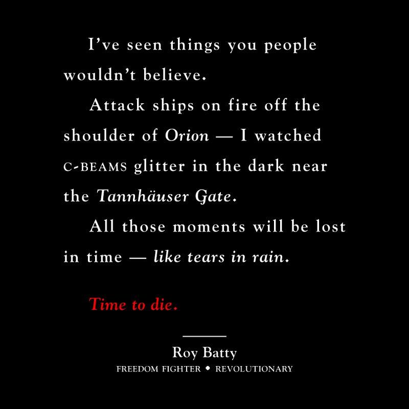 Tears In Rain by FWMJ's Shop