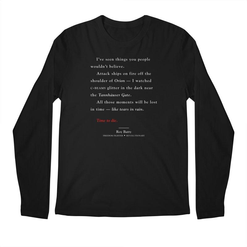 Tears In Rain Men's Longsleeve T-Shirt by FWMJ's Shop
