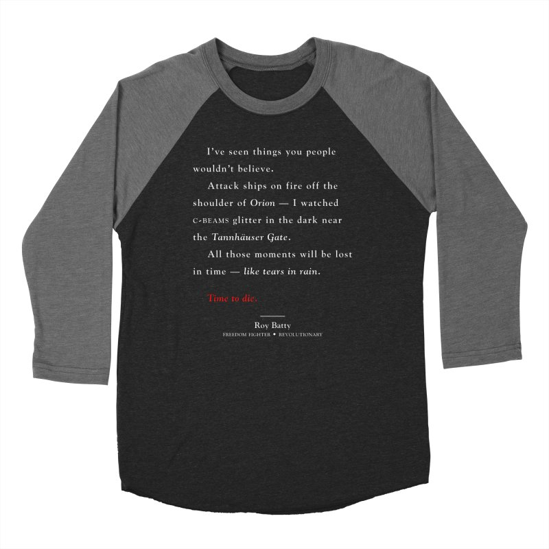 Tears In Rain Men's Baseball Triblend T-Shirt by FWMJ's Shop