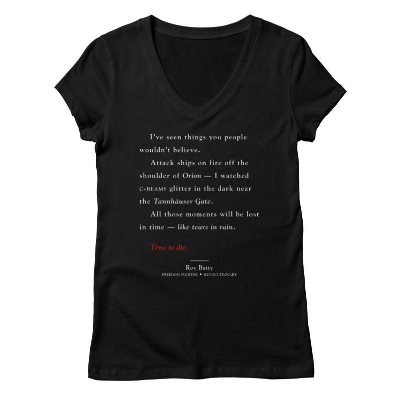 Tears In Rain Women's V-Neck by FWMJ's Shop