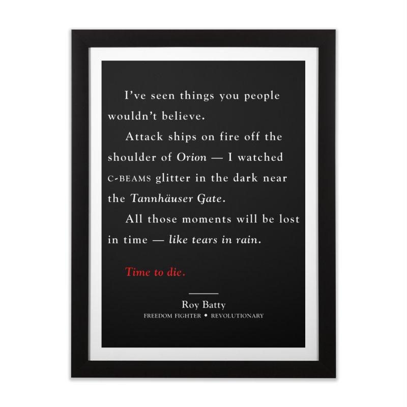 Tears In Rain Home Framed Fine Art Print by FWMJ's Shop