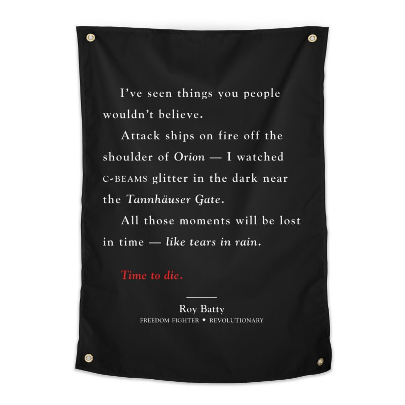 Tears In Rain Home Tapestry by FWMJ's Shop
