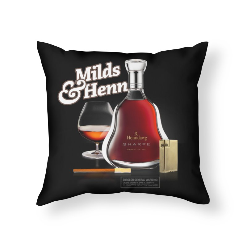 Milds & Henndawg Home Throw Pillow by FWMJ's Shop