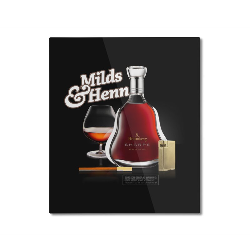 Milds & Henndawg Home Mounted Aluminum Print by FWMJ's Shop