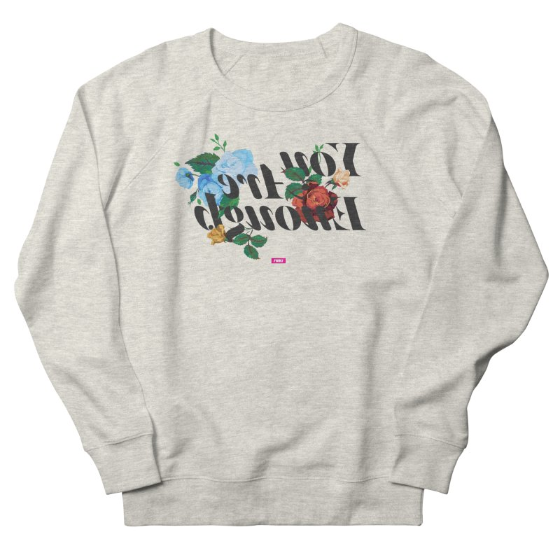 You Are Enough in Men's French Terry Sweatshirt Heather Oatmeal by FWMJ's Shop