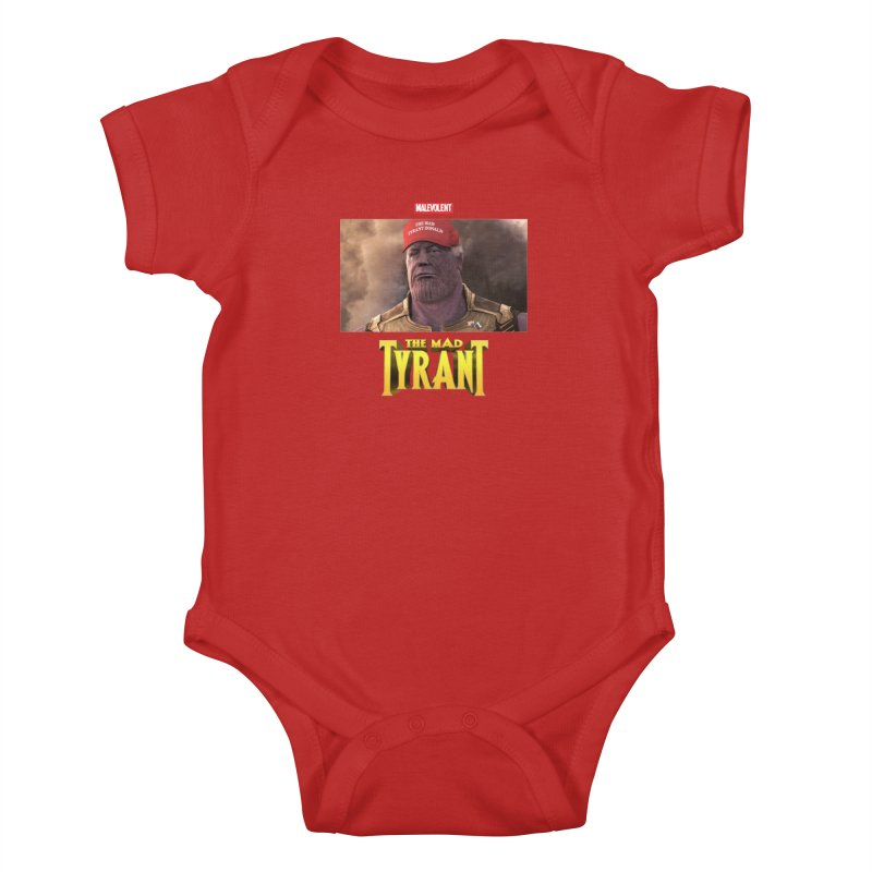The Mad Tyrant (Red) Kids Baby Bodysuit by FWMJ's Shop
