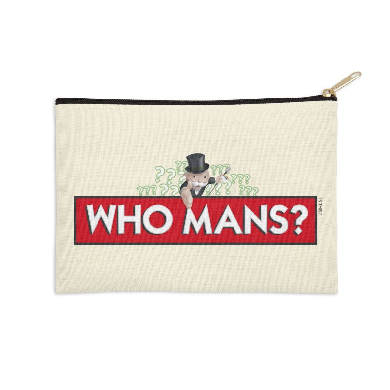 WHO MANS?! Accessories Zip Pouch by FWMJ's Shop
