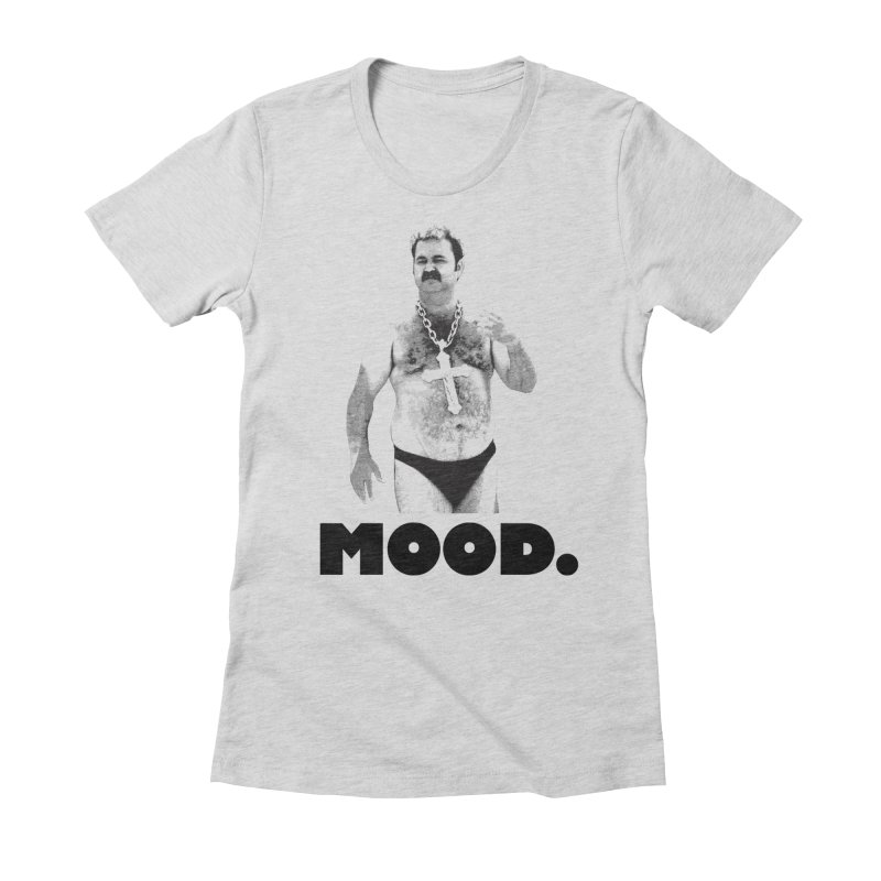BIG MOOD. Women's Fitted T-Shirt by FWMJ's Shop
