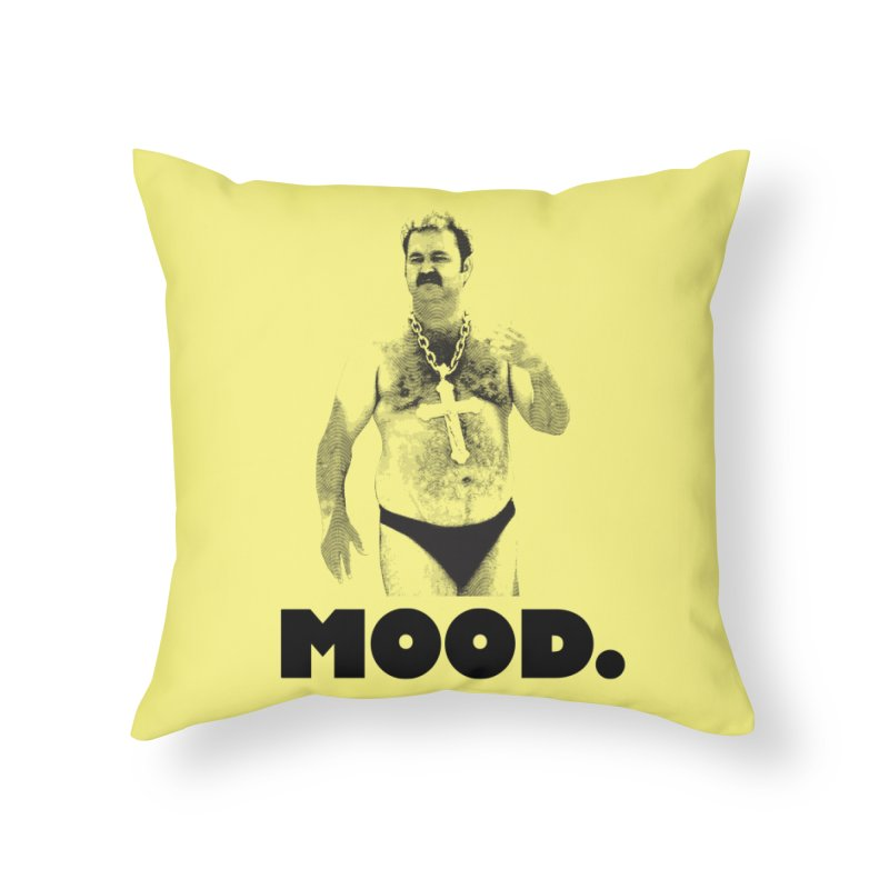 BIG MOOD. Home Throw Pillow by FWMJ's Shop