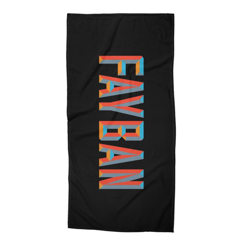 FAYBAN Accessories Beach Towel by FWMJ's Shop