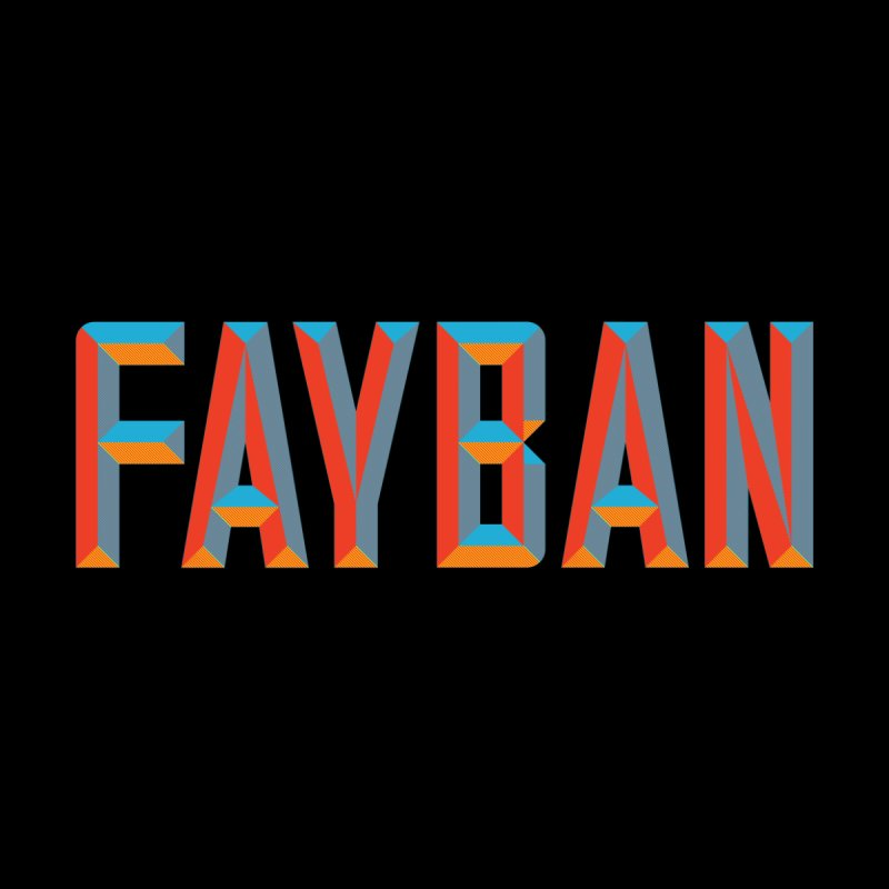 FAYBAN Home Mounted Aluminum Print by FWMJ's Shop