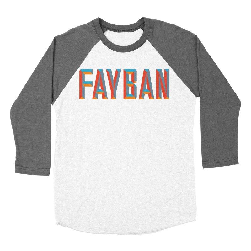 FAYBAN Men's Baseball Triblend Longsleeve T-Shirt by FWMJ's Shop