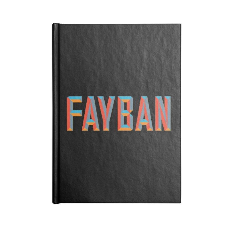 FAYBAN Accessories Blank Journal Notebook by FWMJ's Shop