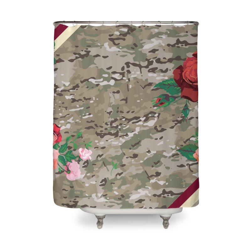 Florals & MultiCAM Home Shower Curtain by FWMJ's Shop