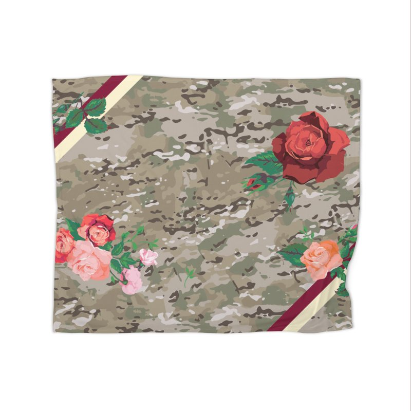 Florals & MultiCAM Home Blanket by FWMJ's Shop