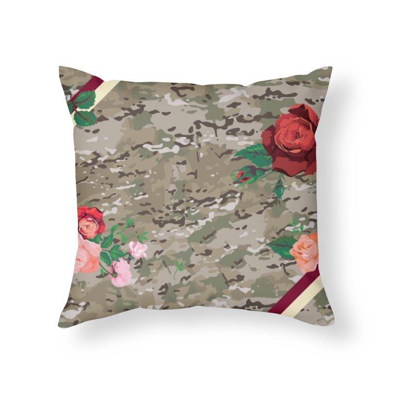 Florals & MultiCAM Home Throw Pillow by FWMJ's Shop
