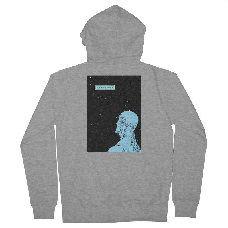 Ennui For You Men's French Terry Zip-Up Hoody by FWMJ's Shop