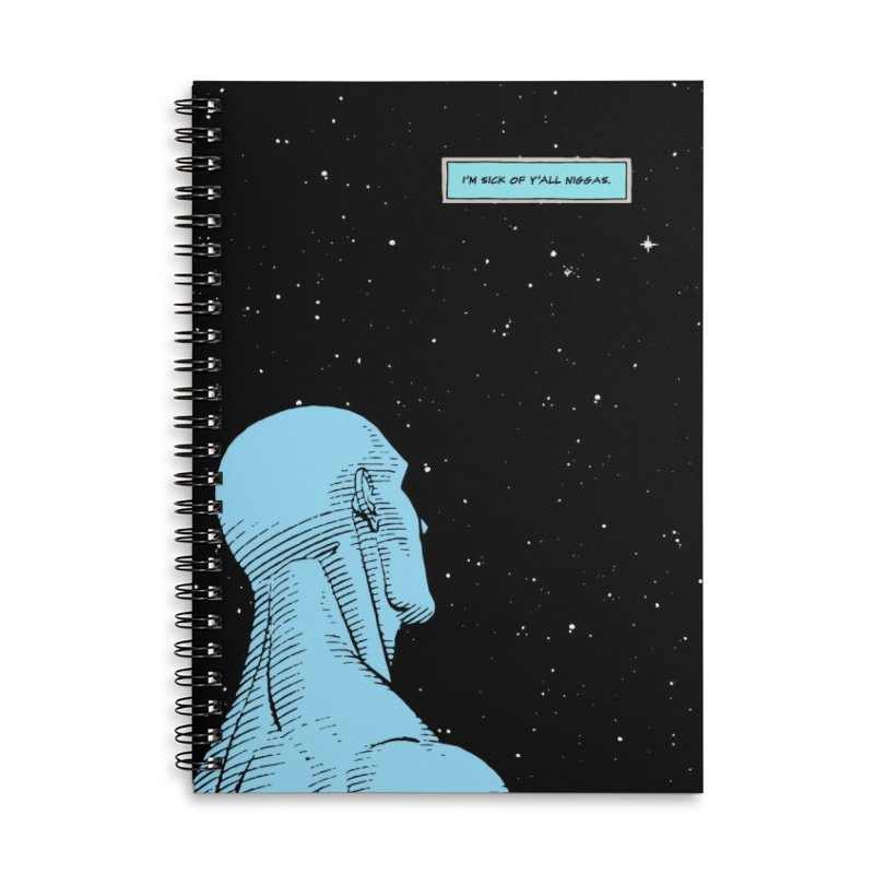 Ennui For Us Accessories Lined Spiral Notebook by FWMJ's Shop