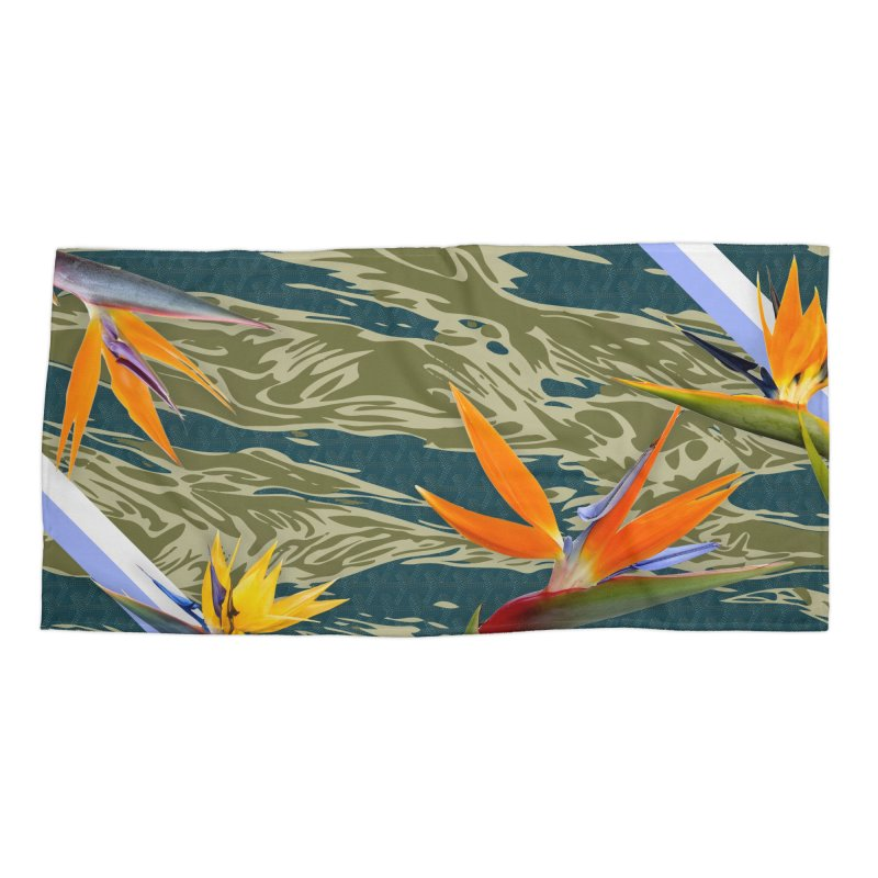 Tigers & Paradise Accessories Beach Towel by FWMJ's Shop