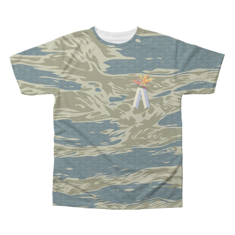 Tigers & Paradise Men's Triblend All Over Print by FWMJ's Shop
