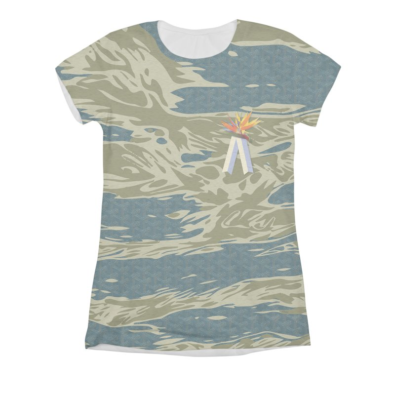 Tigers & Paradise Women's Triblend All Over Print by FWMJ's Shop