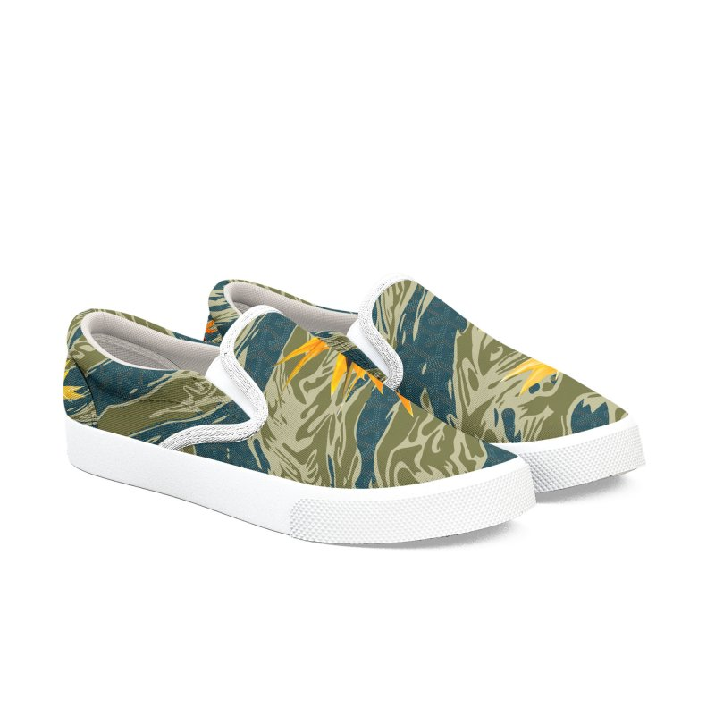Tigers & Paradise Men's Slip-On Shoes by FWMJ's Shop