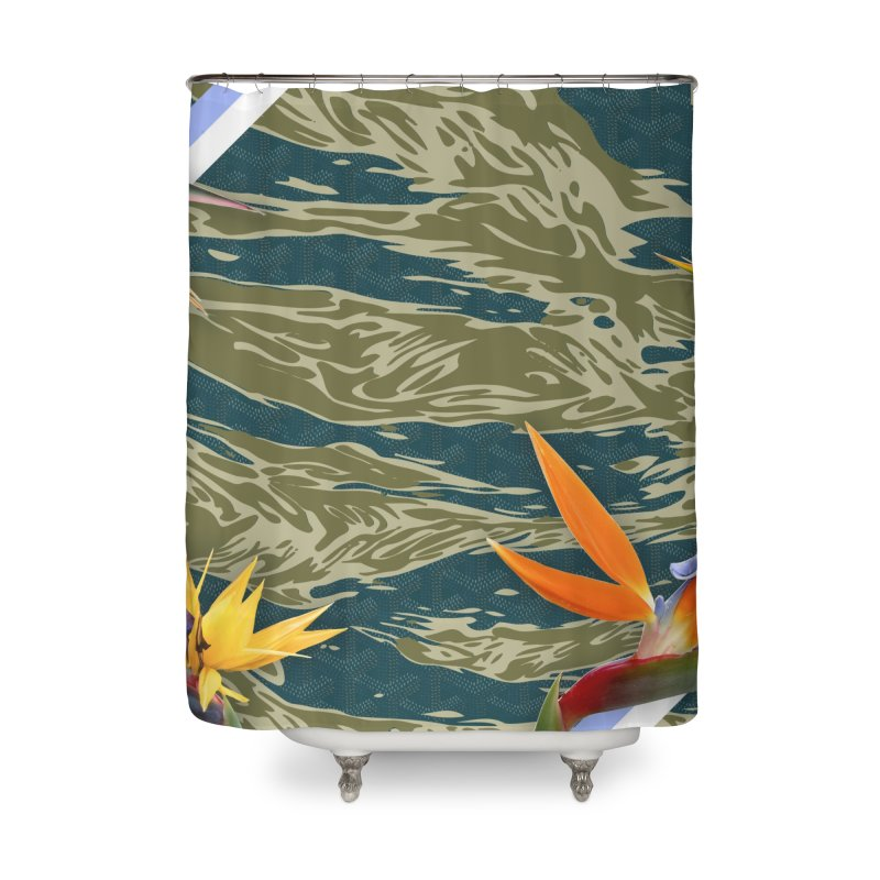 Tigers & Paradise Home Shower Curtain by FWMJ's Shop