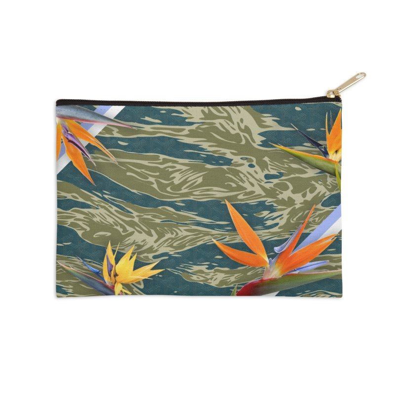 Tigers & Paradise Accessories Zip Pouch by FWMJ's Shop