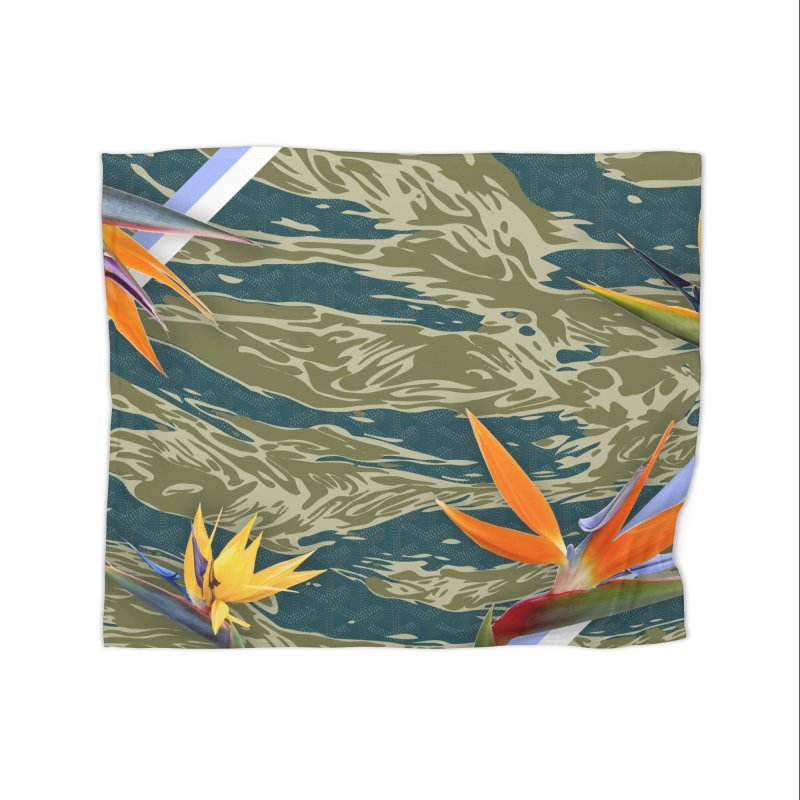 Tigers & Paradise Home Fleece Blanket Blanket by FWMJ's Shop