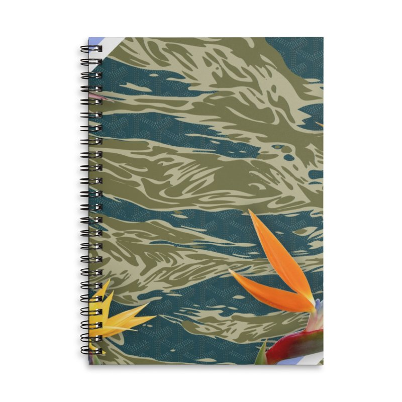 Tigers & Paradise Accessories Lined Spiral Notebook by FWMJ's Shop
