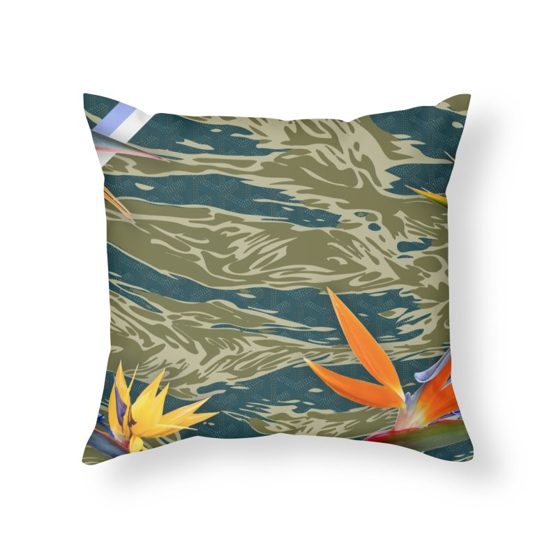 Tigers & Paradise Home Throw Pillow by FWMJ's Shop