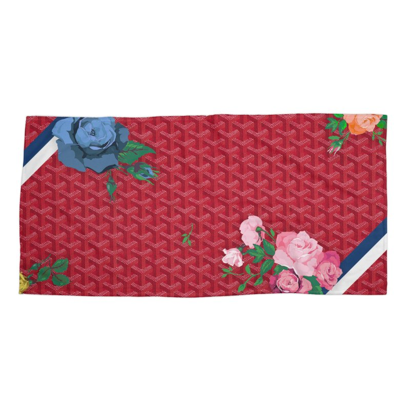 Jardin Goyard (Rouge) Accessories Beach Towel by FWMJ's Shop