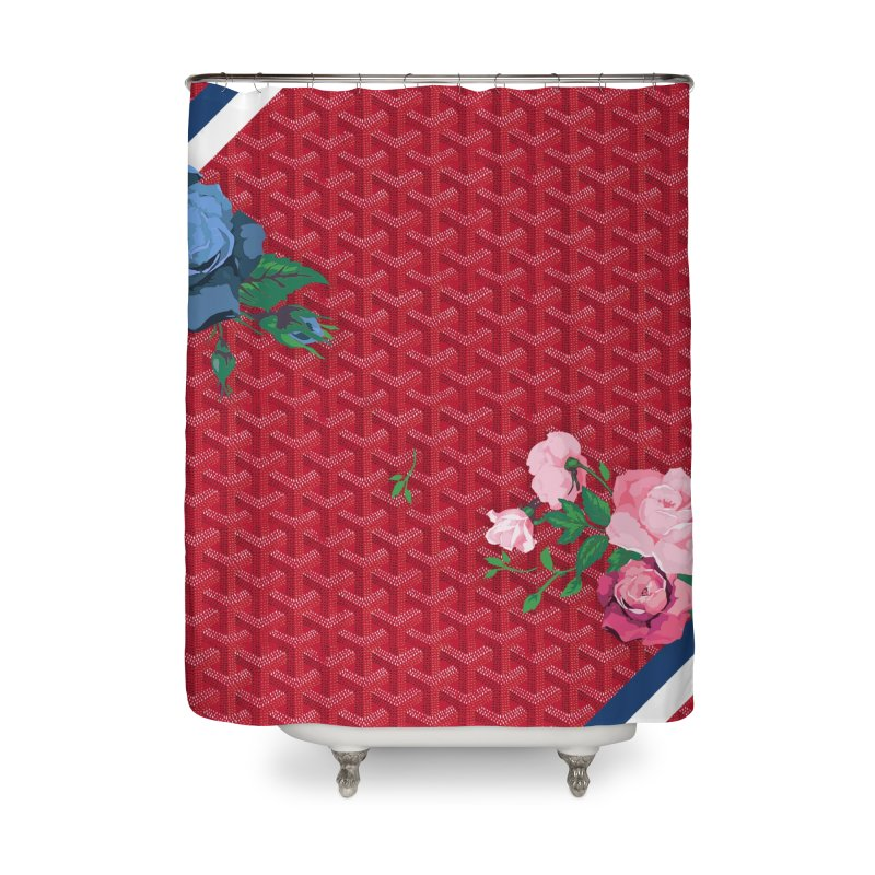 Jardin Goyard (Rouge) Home Shower Curtain by FWMJ's Shop