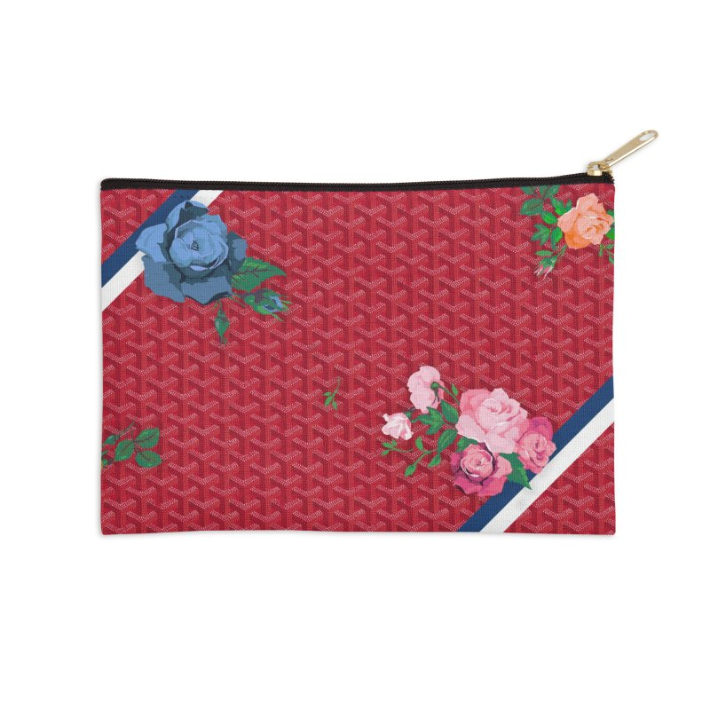 Jardin Goyard (Rouge) Accessories Zip Pouch by FWMJ's Shop