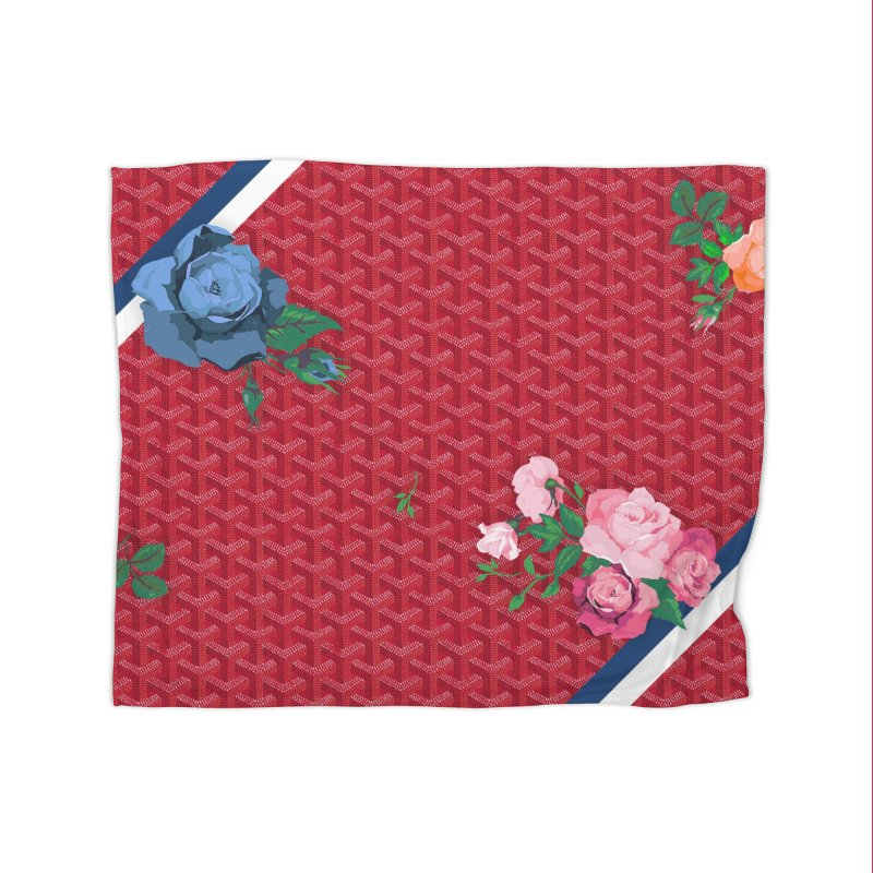Jardin Goyard (Rouge) Home Fleece Blanket Blanket by FWMJ's Shop